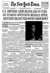 NY Times Headline from the Cuban Missile Crisis