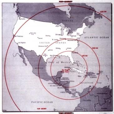Soviet missile ranges, 1962