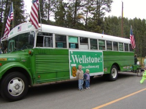 Wellstone's green bus