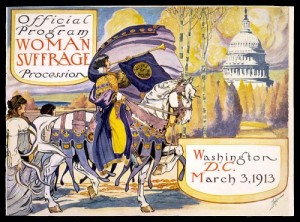 Program for 1913 suffrage procession in Washington, DC