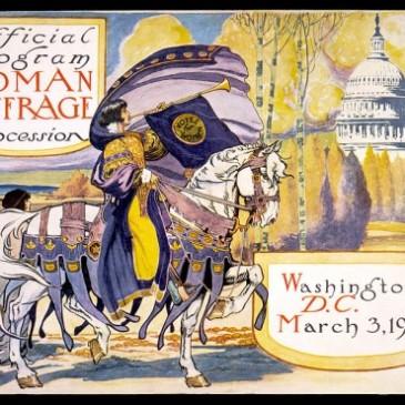 Program for 1913 suffrage procession in Washington, DC