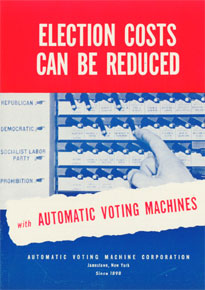 Sales booklet for an automatic voting machine