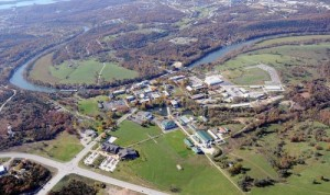 Aerial view of College of the Ozarks