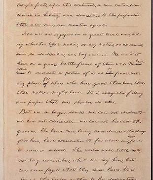 Manuscript of the Gettysburg Address