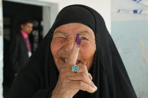 Iraqi voter in 2010