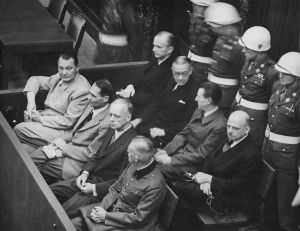 Defendants at the Nuremberg Trials, 1945