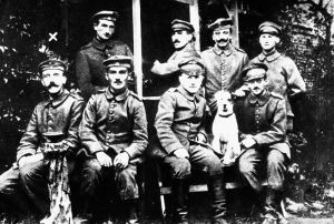 Adolf Hitler and fellow soldiers in WWI