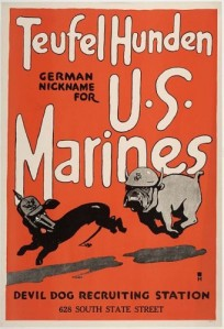 1918 U.S. Marines recruiting poster
