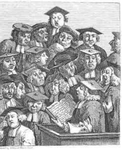 Hogarth, Scholars at a Lecture