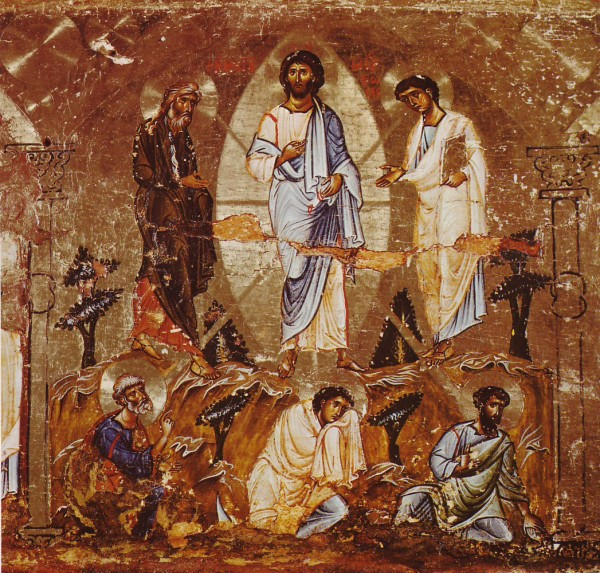 12th century icon depicting the Transfiguration