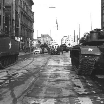Checkpoint Charlie in October 1961