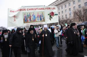 Orthodox priests at pro-life rally