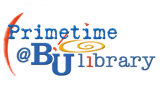 "logo for the Bethel Library's ""Prime Time"" series"