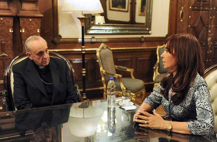 Jorge Bergoglio and Christina Kirchner