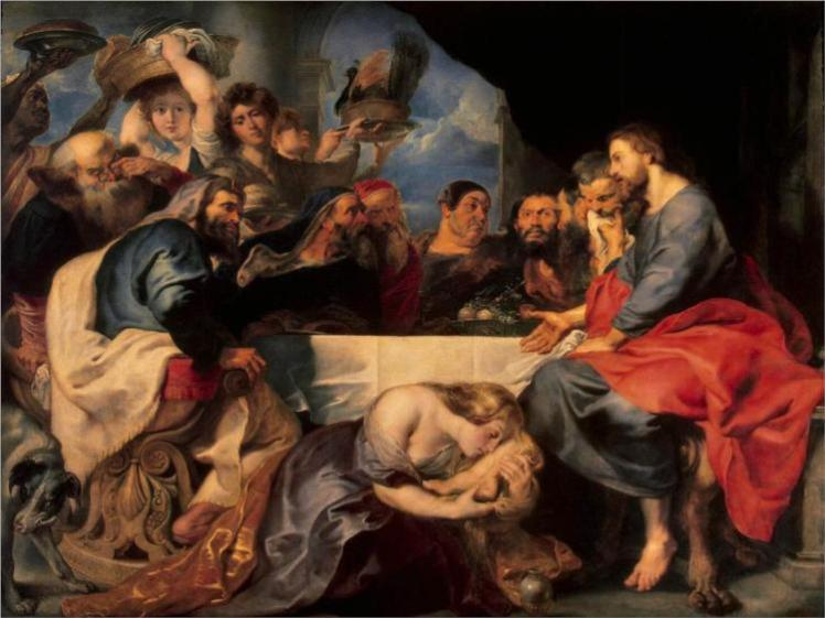"Peter Paul Rubens, ""Christ at the House of Simon the Pharisee"" (Luke 7) - Wikipaintings.org"