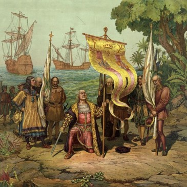 """Columbus """"discovers"""" the Americas"""