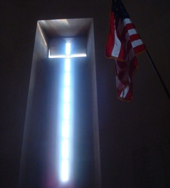 From the memorial chapel at Somme American Cemetery