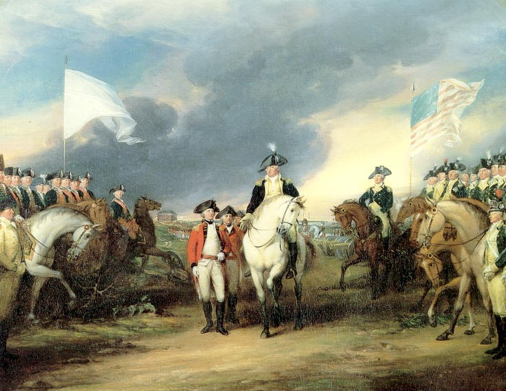 Trumbull, Surrender of Wallis at Yorktown