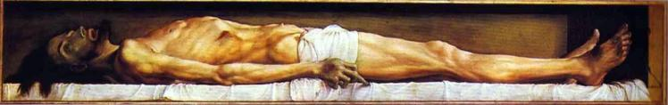 Holbein, The Body of the Dead Christ in the Tomb