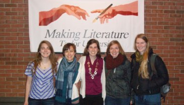 "Bethel students at the Taylor ""Making Literature"" conference"
