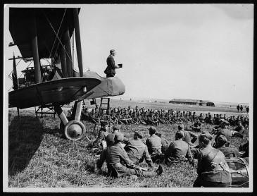Worship service at WWI aerodrome
