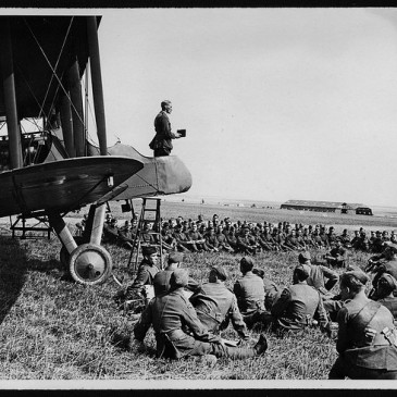 Worship service at WWI aerodrome