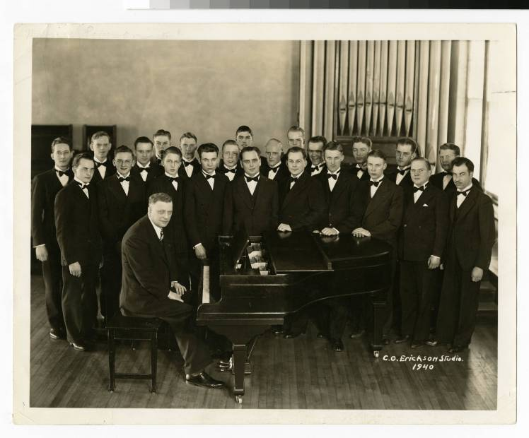 Virgil (and Carl Lundquist) in the 1939-40 Bethel Male Chorus