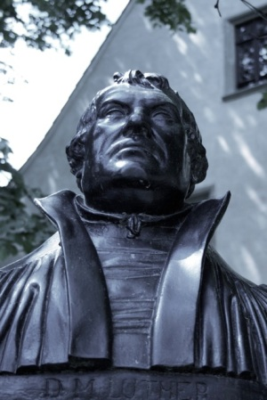 Luther bust in Eisleben