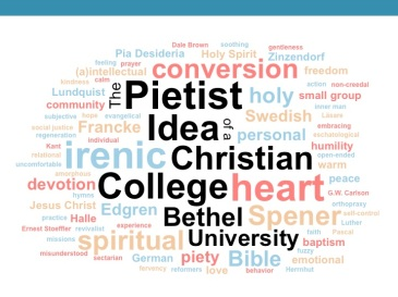 Pietist Idea of a Christian College word cloud