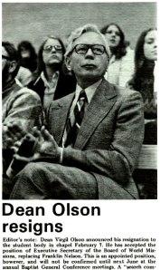 Virgil Olson in 1974