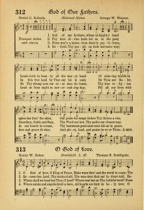 """""""God of Our Fathers"""" in a 1918 hymnal"""