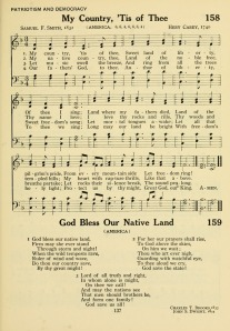 """""""America"""" in 1921 Army/Navy Hymnal"""