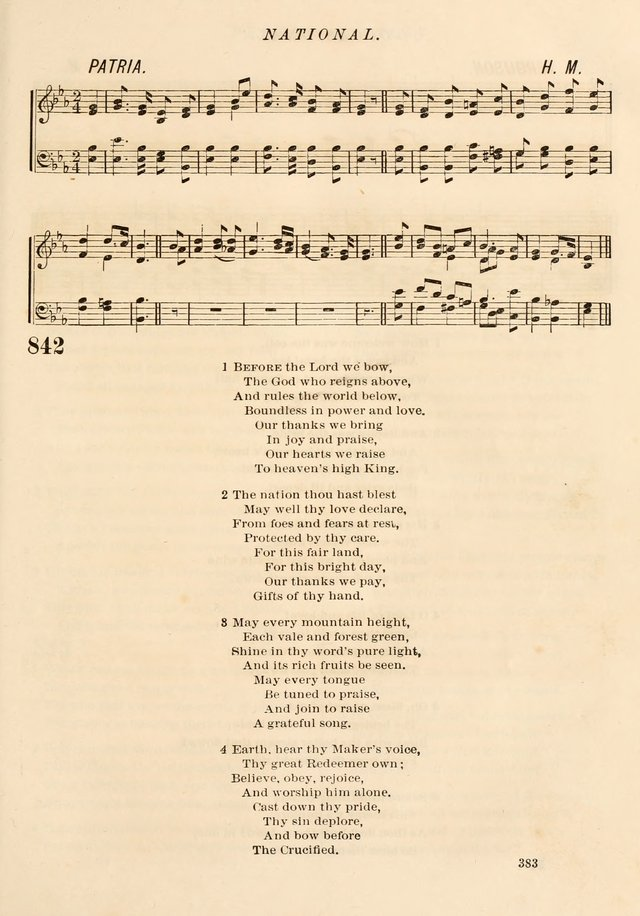 """""""Before the Lord We Bow"""" in 1874 Presbyterian hymnal"""