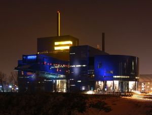 The Guthrie Theater at night