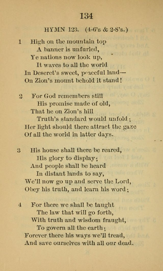 """1871 version of the Mormon hymn """"High on the Mountain Top"""""""