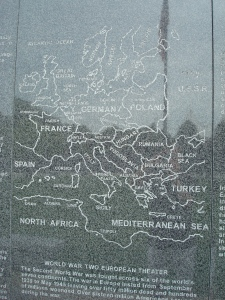 Map of the European theater of operations at Rochester Veterans Memorial