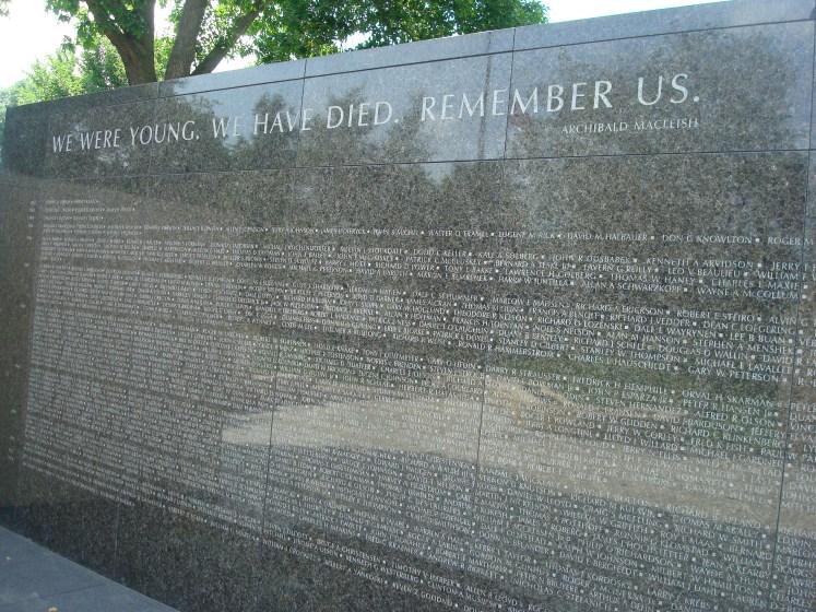 Wall of honor at MN Vietnam Veterans Memorial