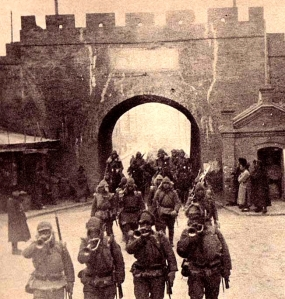 Japanese troops in Mukden, Manchura - Sept. 1931