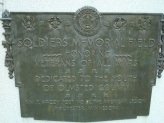 Plaque for Rochester's Soldiers Memorial Field