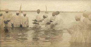 River baptism ca. 1900