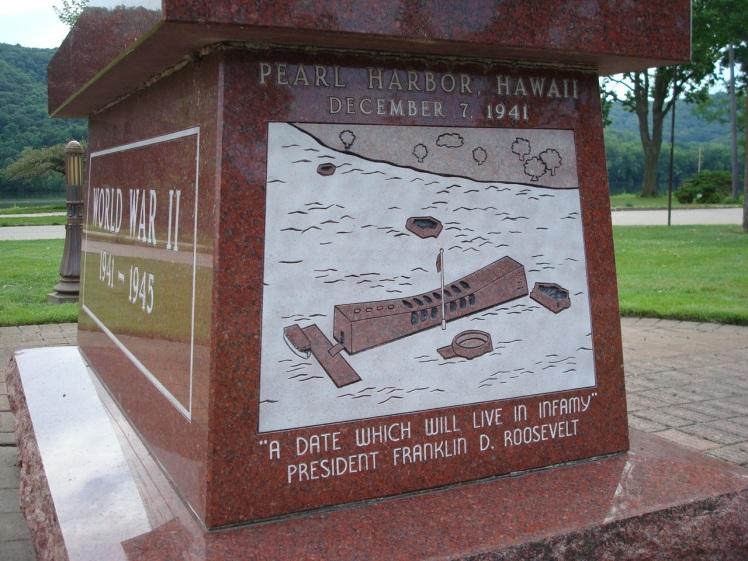 WWII memorial in Winona, Minnesota