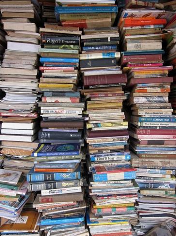 Stack of used books (licensed through Creative Commons by Indi Samarajiva)