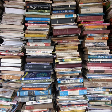 Stack of used books (licensed through Creative Commons by Indi Samarajiva)