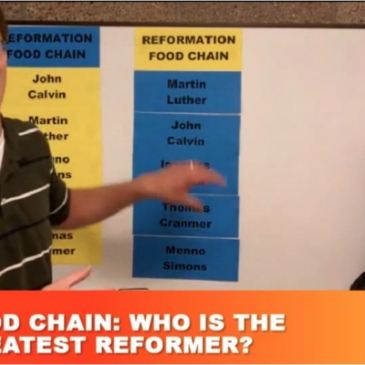 Screenshot from CWC webisode reviewing the Reformations