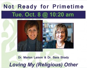 Ad for Marion Larson and Sara Shady's talk earlier this month