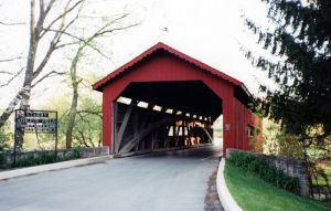 Covered bridge at Messiah College