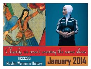 Ad for Amy's Muslim Women in History course