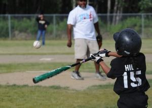 Youth baseball at Fort Wainwright