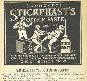 "1885 British ad for ""office paste"""
