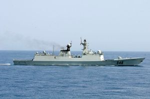 Chinese frigate in the Gulf of Aden